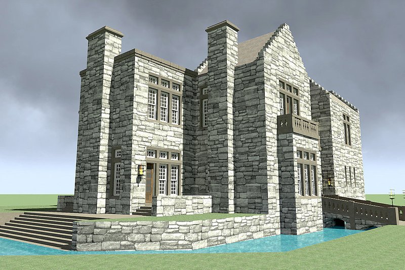 European Exterior - Other Elevation Plan #64-222 - Houseplans.com