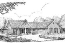 Dream House Plan - Colonial Exterior - Front Elevation Plan #410-289