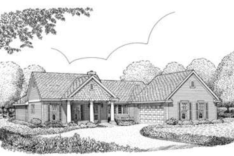 Colonial Exterior - Front Elevation Plan #410-289