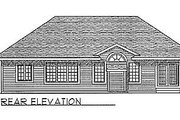 Traditional Style House Plan - 3 Beds 2.5 Baths 1561 Sq/Ft Plan #70-151 Exterior - Rear Elevation