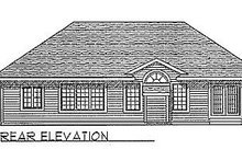 Dream House Plan - Traditional Exterior - Rear Elevation Plan #70-151
