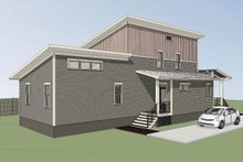 Architectural House Design - Modern Exterior - Rear Elevation Plan #79-319