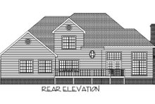 Home Plan Design - Country Exterior - Rear Elevation Plan #56-192