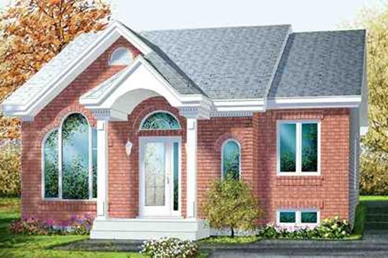 Traditional Style House Plan - 2 Beds 1 Baths 961 Sq/Ft Plan #25-4232 Exterior - Front Elevation