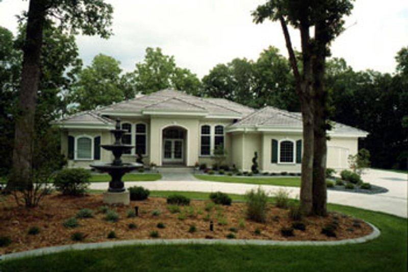 Dream House Plan - Mediterranean Exterior - Front Elevation Plan #70-452