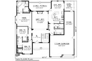 Ranch Style House Plan - 3 Beds 2.5 Baths 2129 Sq/Ft Plan #70-1167 Floor Plan - Main Floor Plan