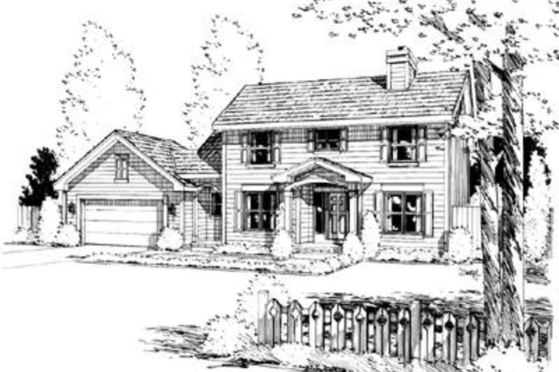 Colonial Exterior - Front Elevation Plan #20-848 - Houseplans.com