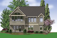 House Plan Design - Rear view - 2000 square foot Traditional home
