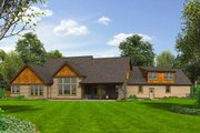 Craftsman Style House Plan - 4 Beds 3.5 Baths 3888 Sq/Ft Plan #48-711 Exterior - Rear Elevation