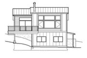 Contemporary Style House Plan - 4 Beds 2.5 Baths 1937 Sq/Ft Plan #519-1 Exterior - Other Elevation