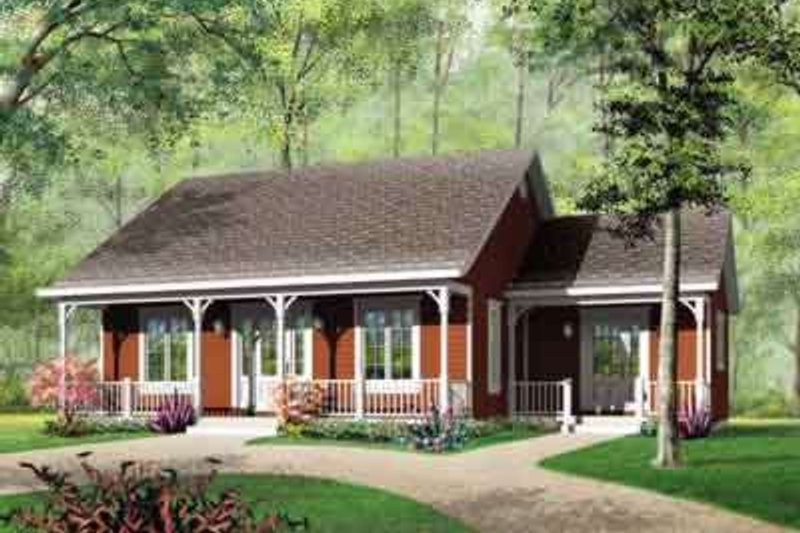 Country Exterior - Front Elevation Plan #23-473