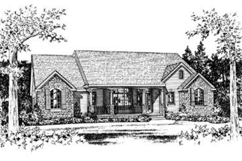 Traditional Exterior - Front Elevation Plan #20-764