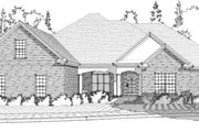 Traditional Style House Plan - 4 Beds 4 Baths 2867 Sq/Ft Plan #63-344 Exterior - Front Elevation