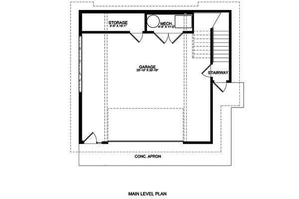 Contemporary Floor Plan - Main Floor Plan Plan #498-3