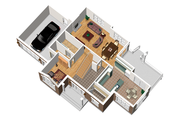 Traditional Style House Plan - 3 Beds 2 Baths 2130 Sq/Ft Plan #25-4716 Floor Plan - Main Floor Plan