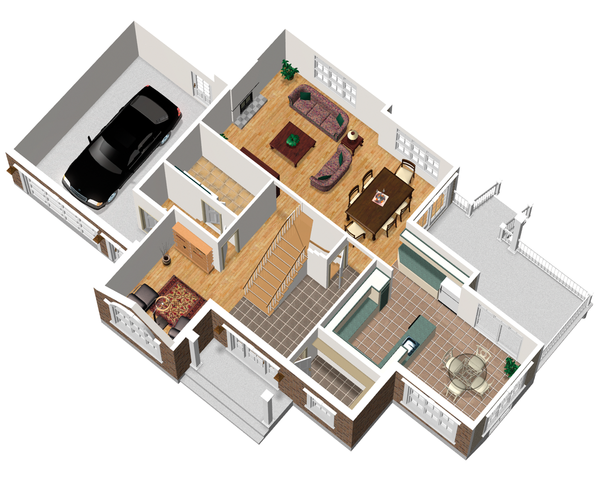 Traditional Floor Plan - Main Floor Plan #25-4716