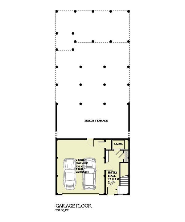 Beach Floor Plan - Lower Floor Plan #901-114