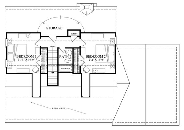 Country Floor Plan - Upper Floor Plan Plan #137-294