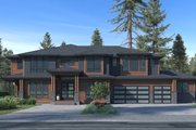 Traditional Style House Plan - 6 Beds 5.5 Baths 5765 Sq/Ft Plan #1066-78 Exterior - Front Elevation