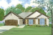 European Style House Plan - 3 Beds 2 Baths 1745 Sq/Ft Plan #923-48 Exterior - Front Elevation