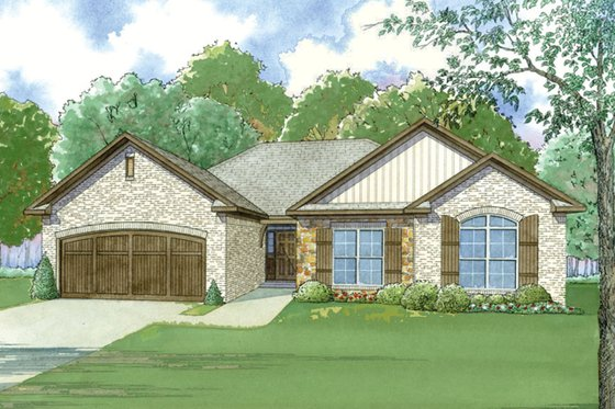 European Exterior - Front Elevation Plan #923-48
