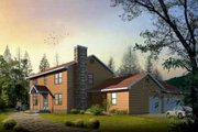 Colonial Style House Plan - 4 Beds 2.5 Baths 2041 Sq/Ft Plan #1-1040 Exterior - Front Elevation
