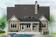 Cottage Style House Plan - 3 Beds 2.5 Baths 2110 Sq/Ft Plan #929-1066 Exterior - Rear Elevation