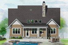 Cottage Exterior - Rear Elevation Plan #929-1066