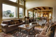 Mediterranean Style House Plan - 4 Beds 4 Baths 3069 Sq/Ft Plan #80-141 Interior - Family Room
