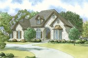 European Style House Plan - 3 Beds 2.5 Baths 2494 Sq/Ft Plan #923-33 Exterior - Front Elevation