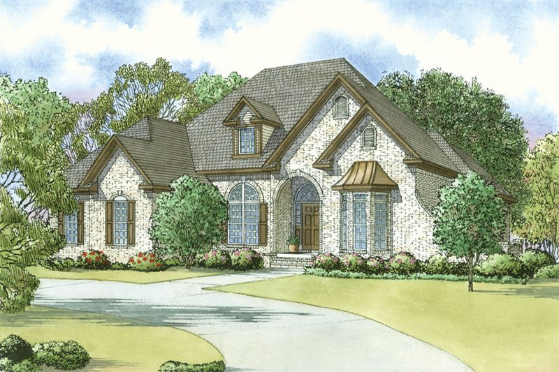 European Exterior - Front Elevation Plan #923-33