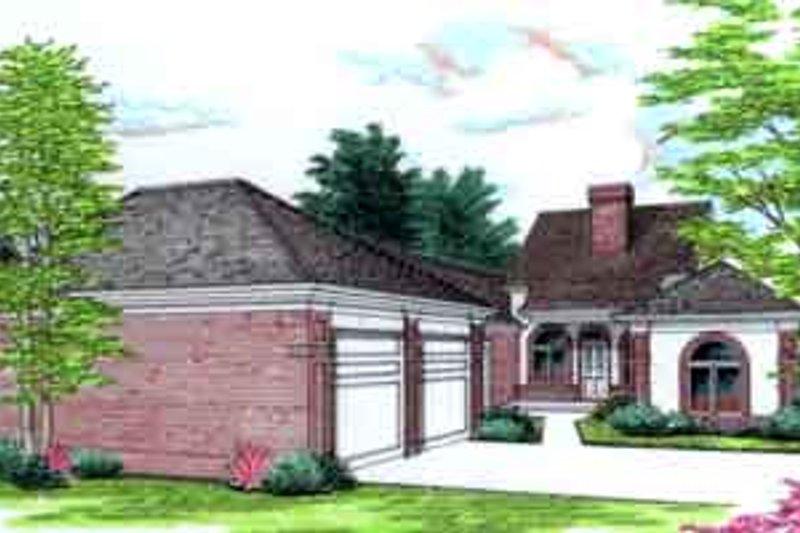 House Design - Mediterranean Exterior - Front Elevation Plan #45-246
