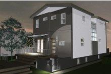 Contemporary Exterior - Rear Elevation Plan #535-26