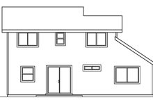 Exterior - Rear Elevation Plan #124-470