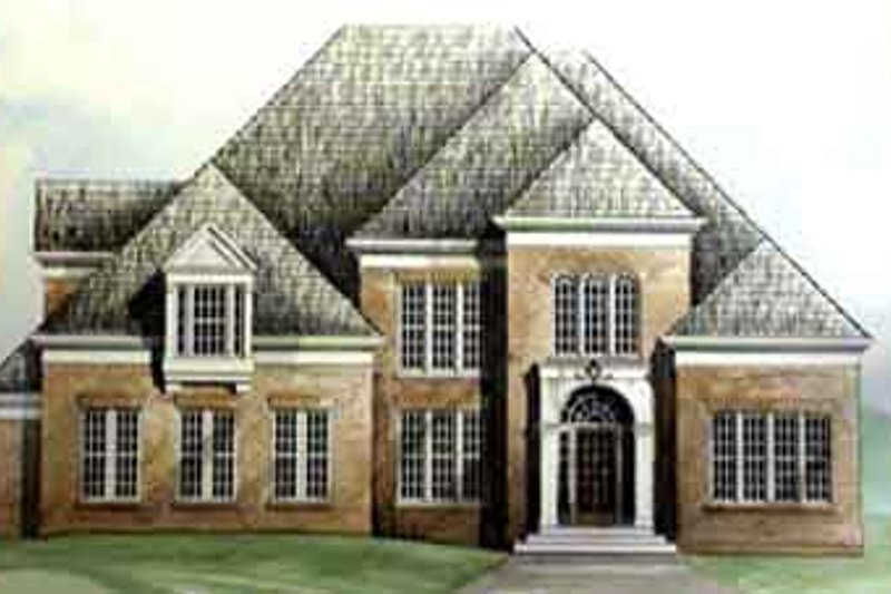 European Exterior - Front Elevation Plan #119-120 - Houseplans.com