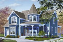 House Plan Design - Victorian Exterior - Front Elevation Plan #23-835