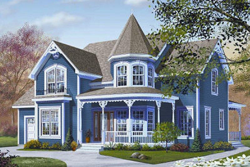 Dream House Plan - Victorian Exterior - Front Elevation Plan #23-835