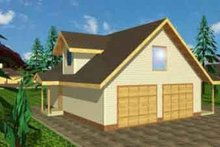 Home Plan - Farmhouse Exterior - Front Elevation Plan #117-247