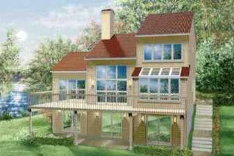 House Plan - 3 Beds 2.5 Baths 1705 Sq/Ft Plan #25-2282 Exterior - Front Elevation