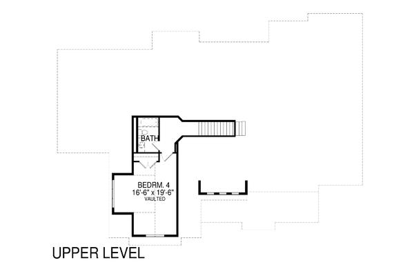 Craftsman Floor Plan - Upper Floor Plan Plan #920-103