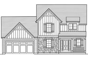 Traditional Style House Plan - 3 Beds 2.5 Baths 1664 Sq/Ft Plan #46-890 Exterior - Front Elevation