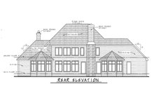 Home Plan - European Exterior - Rear Elevation Plan #20-2047