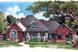 European Exterior - Front Elevation Plan #45-250