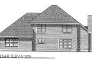 Traditional Style House Plan - 4 Beds 2.5 Baths 2523 Sq/Ft Plan #70-408 Exterior - Rear Elevation