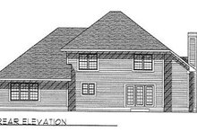 Dream House Plan - Traditional Exterior - Rear Elevation Plan #70-408