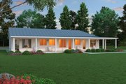 Ranch Style House Plan - 2 Beds 2.5 Baths 2507 Sq/Ft Plan #888-5 Exterior - Front Elevation