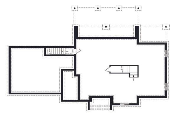 Modern Floor Plan - Lower Floor Plan Plan #23-2310