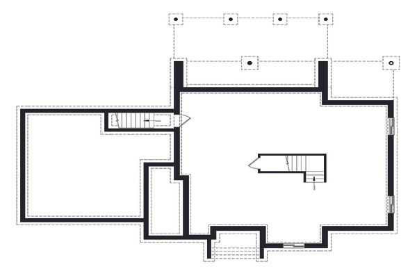 Architectural House Design - Modern Floor Plan - Lower Floor Plan #23-2310
