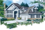 Traditional Style House Plan - 4 Beds 2.5 Baths 2694 Sq/Ft Plan #48-451 Exterior - Front Elevation