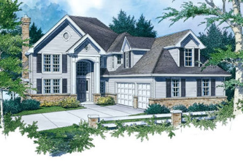 Traditional Exterior - Front Elevation Plan #48-451 - Houseplans.com